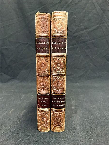 Fine Bindings Baillie Poems and Plays