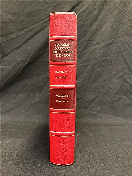 Fine Binding Hawaiian Bibliography Vol 1