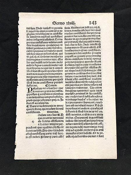 Incunabla page