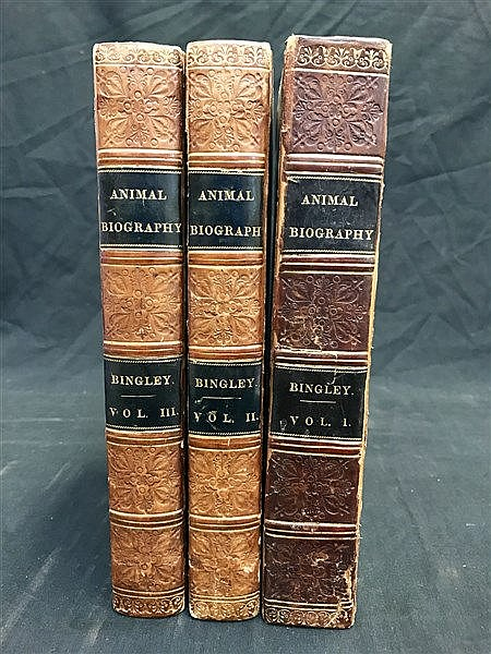 Fine Binding - Animal Biography (1813) x 3