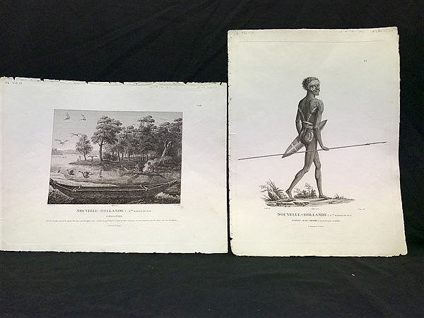 Engravings of Aboriginals x 2, c. 1800