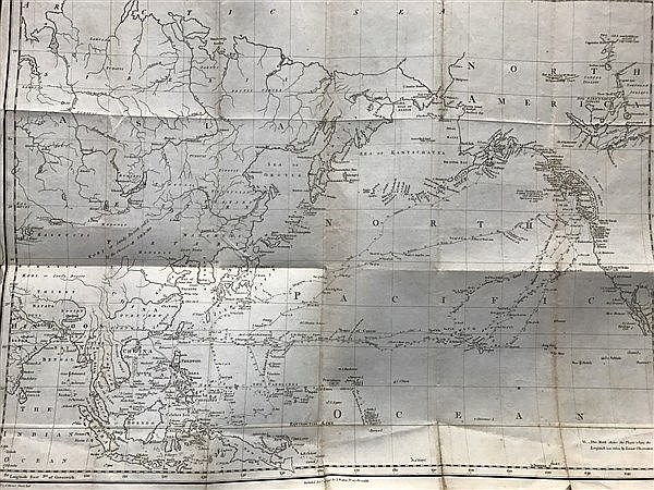 Cook Asia and America Map