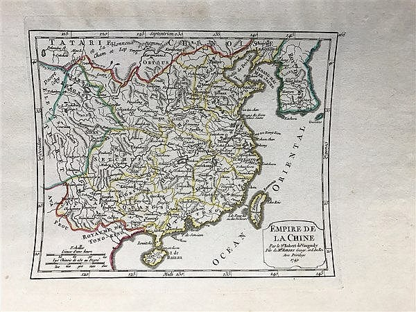 Map of China 1749