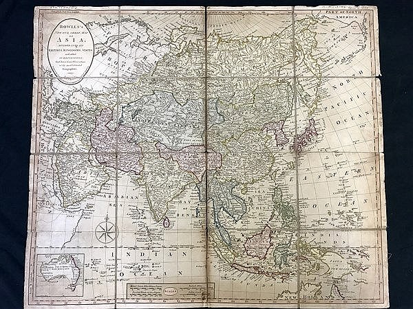 Bowles's Map of Asia (19th Century)