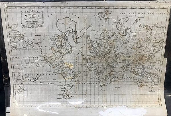 Map of the World 1783