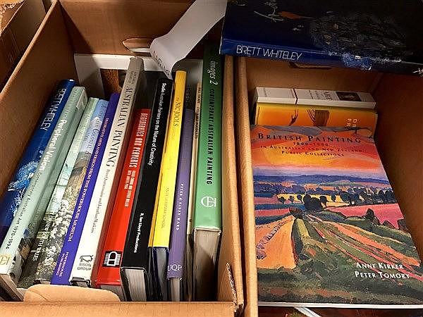 Box of Australian Art Books