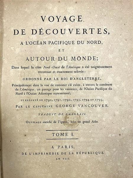 Vancouver Voyage 1800