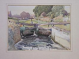ROLAND F SPENCER FORD (1902 - 1990) - Canal lock