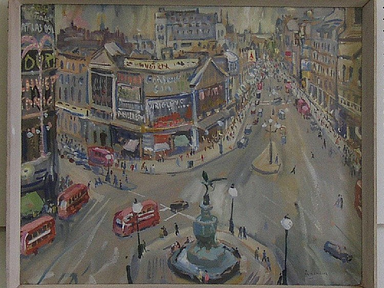 WILLIAM LYONS WILSON (b.1892) - Piccadilly Circus,