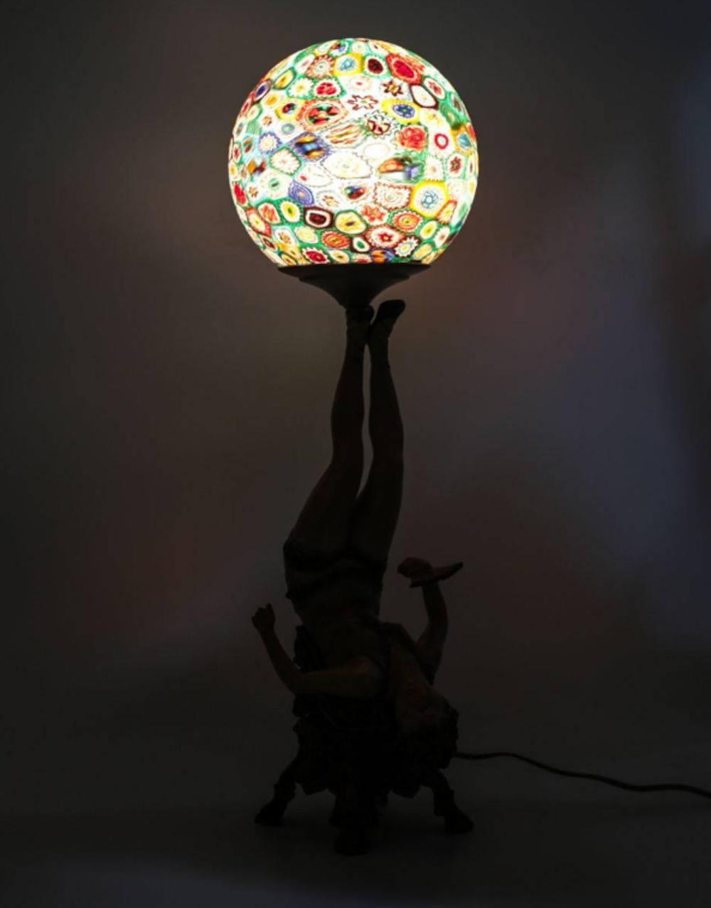 Sold Price Art Deco Polychrome Dancer Lamp Millefiori Shade Invalid Date Pdt