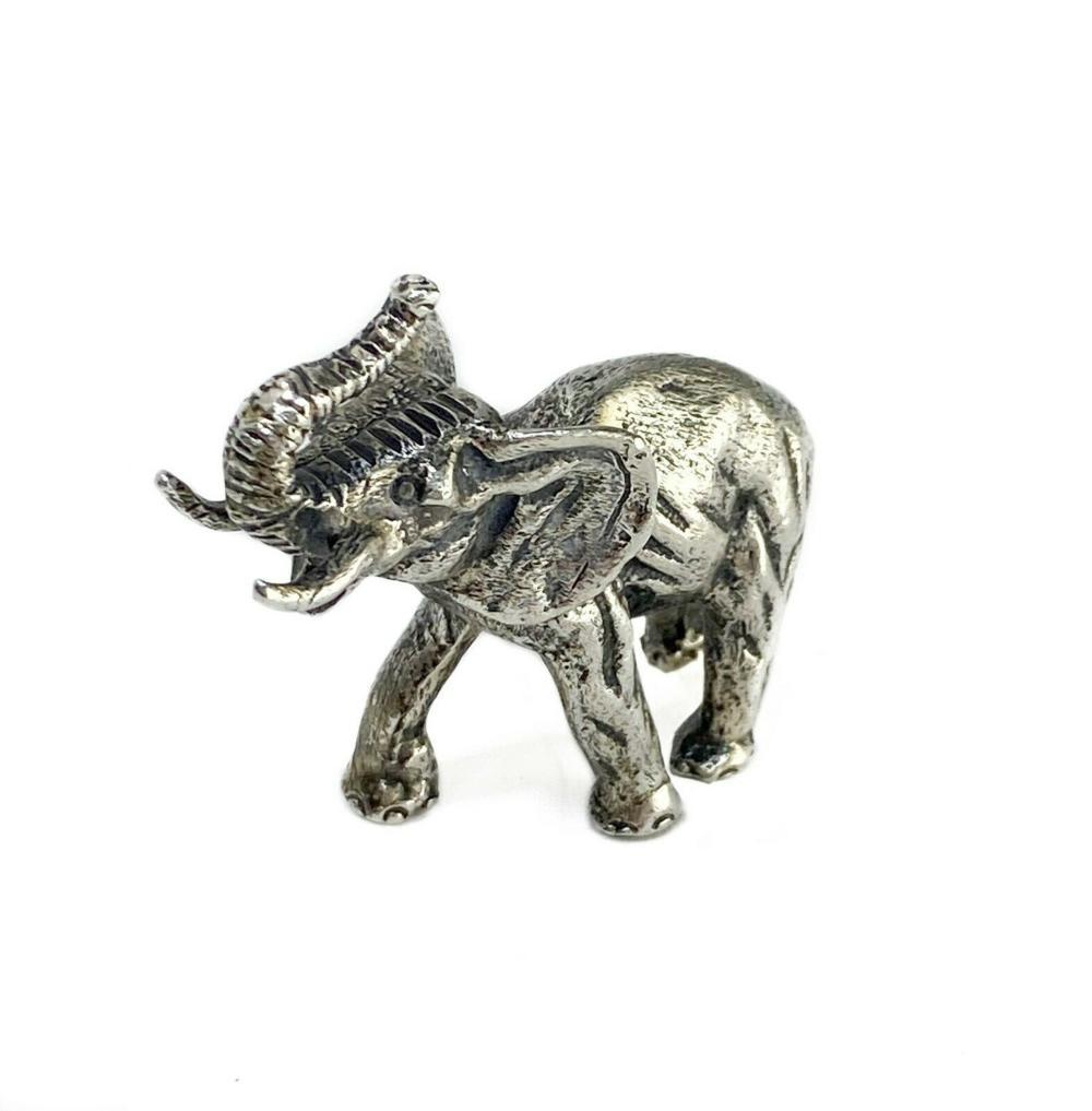 Italian 800 Solid Silver Miniature Elephant Figurine