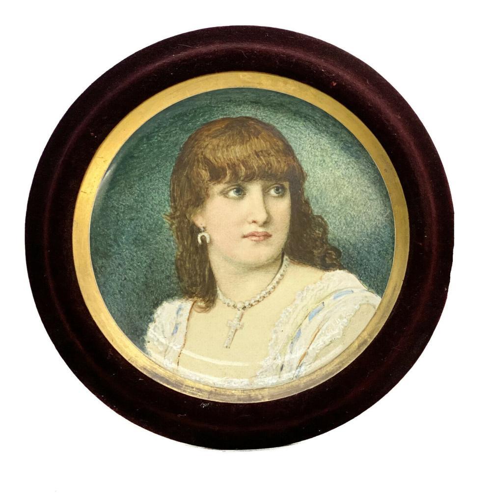 Minton Porcelain Portrait Charger Beauty William Coleman