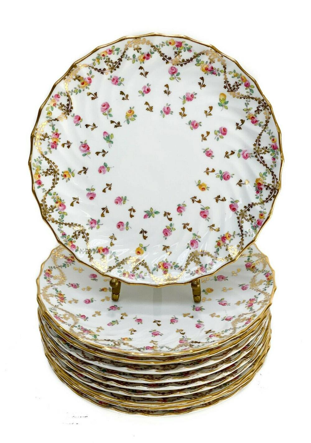 10 Copeland Spode England Porcelain Dessert Plates