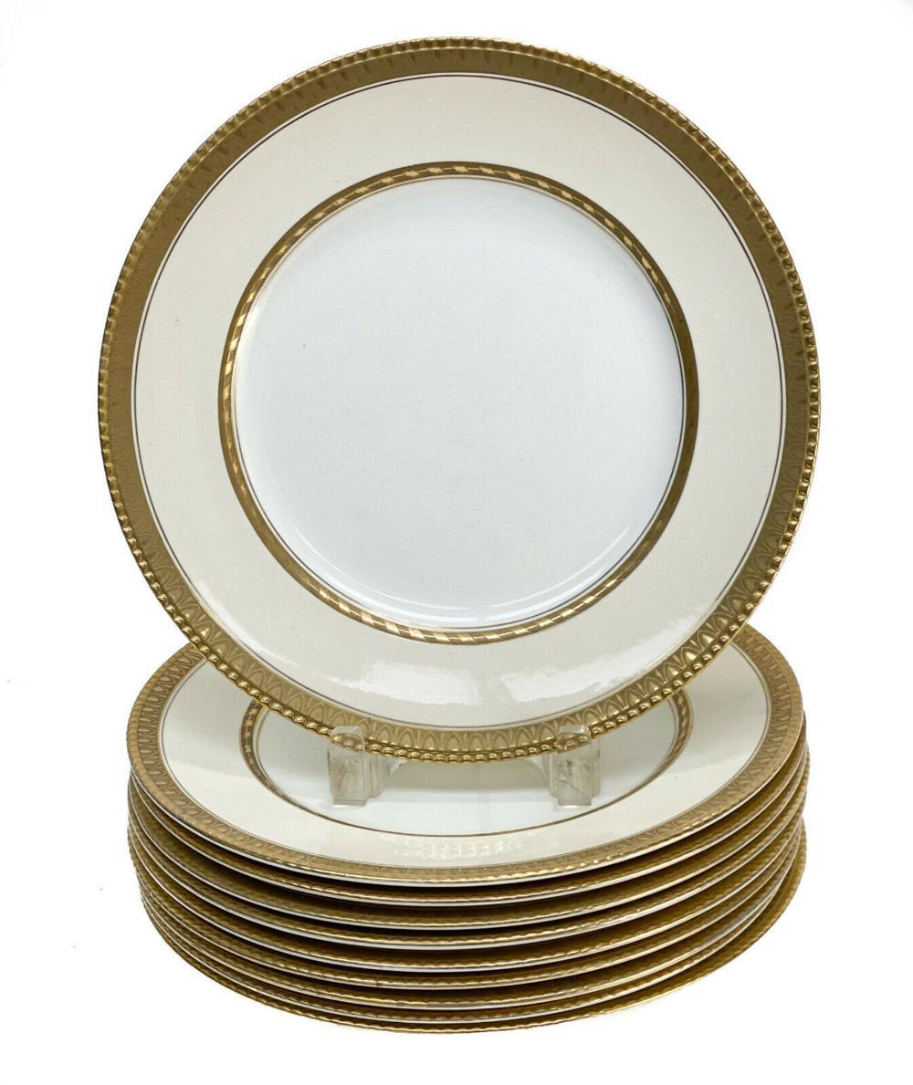 10 Booths England Porcelain Dinner Plates, c1920