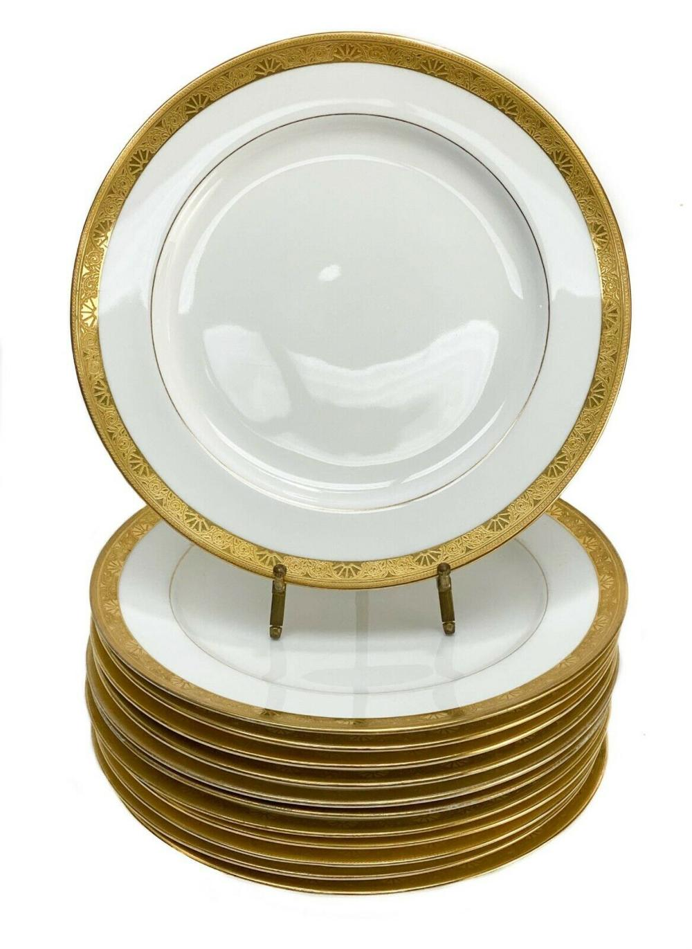 12 Minton England for Tiffany & Co. Dinner Plates