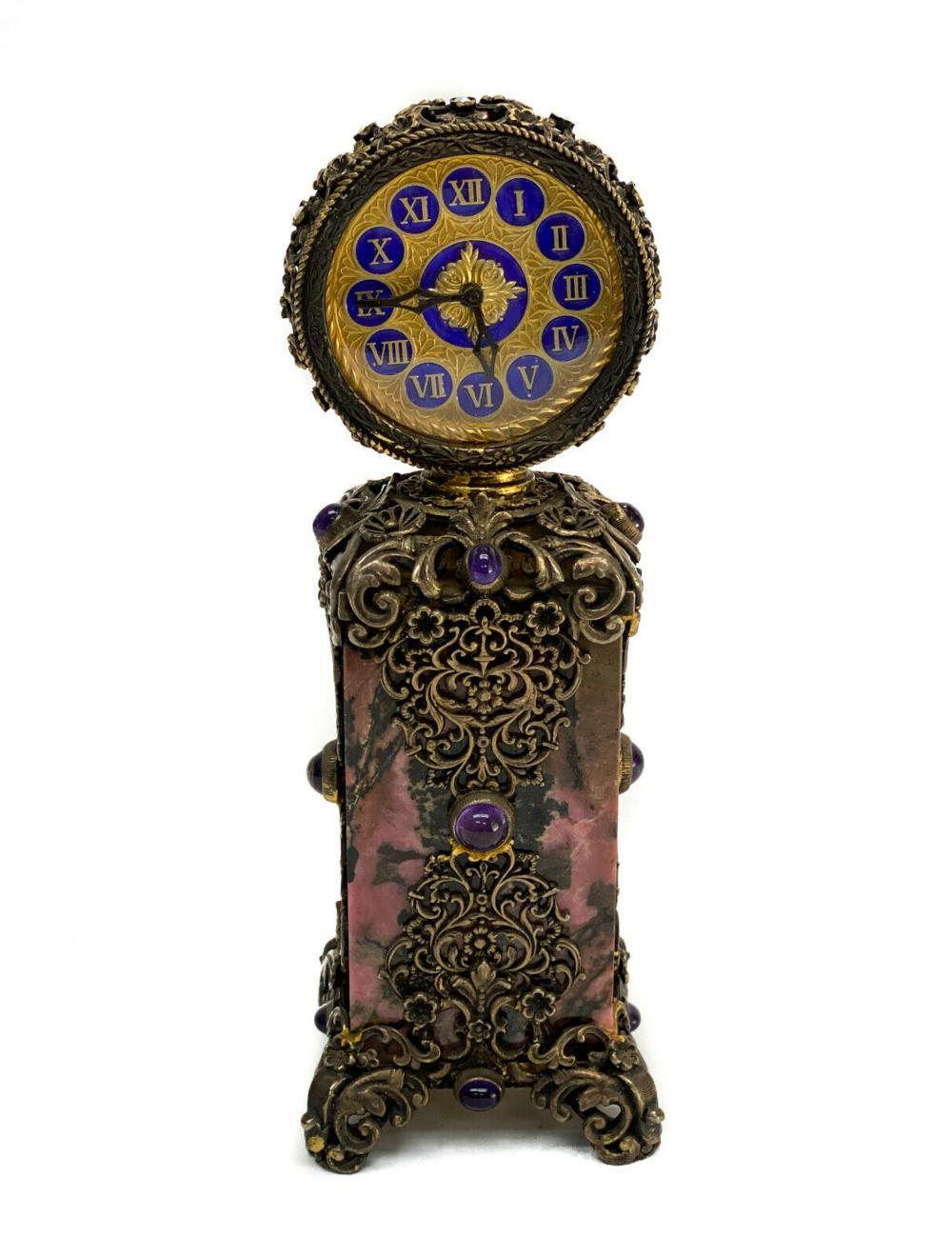 Austrian Gilt Bronze Desk Clock