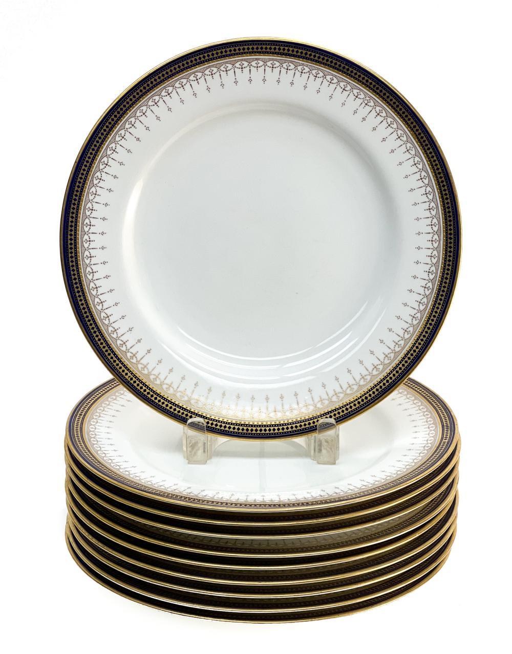 10 Copeland Spode England Porcelain Dinner Plates