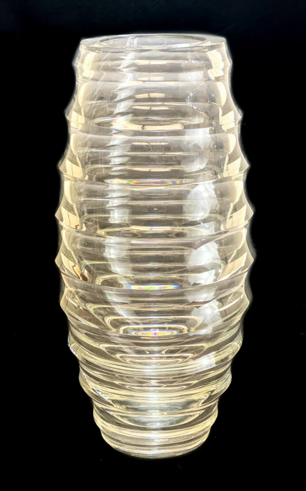 Baccarat Glass Circumference Vase by Vicente Wolf