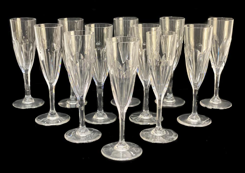 12 Saint Louis France Cut Glass Champagne in Bristol