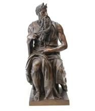 Ron Liod Sauvage Bronze Moses after Michaelangelo