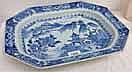 19TH CENTURY CHINESE BLUE & WHITE RECTANGULAR DISH