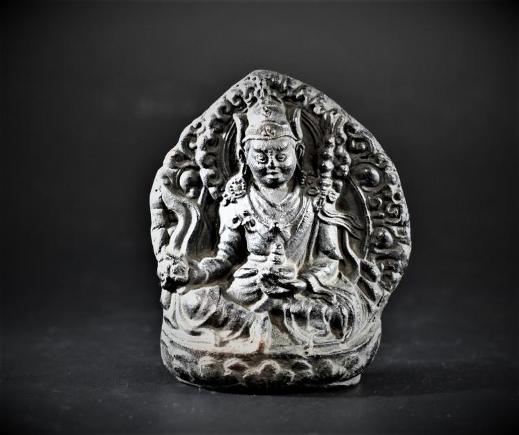 A Pottery with Bodhisattva Shape - Mid Qing Dynasty