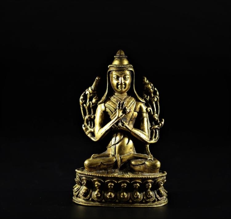 A Buddha Statue - Early Qing Dynasty