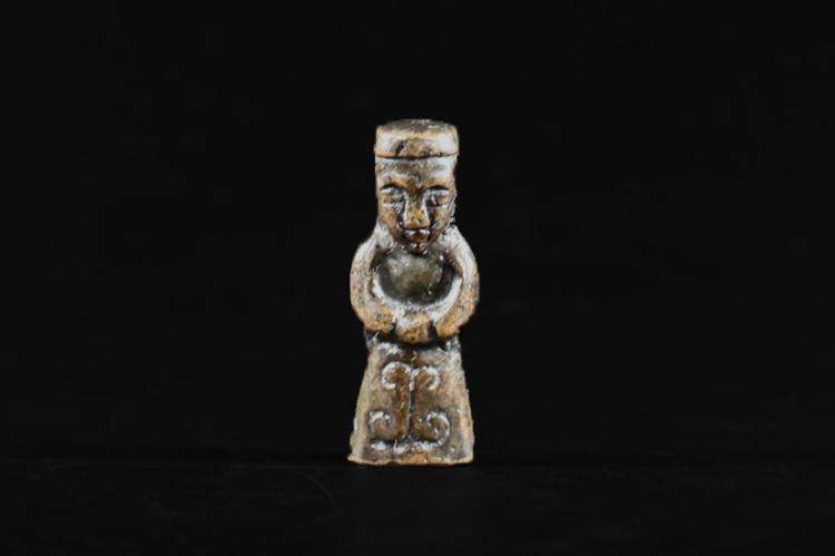 A Ritual Stuff with Human Carving - Ming Dynasty