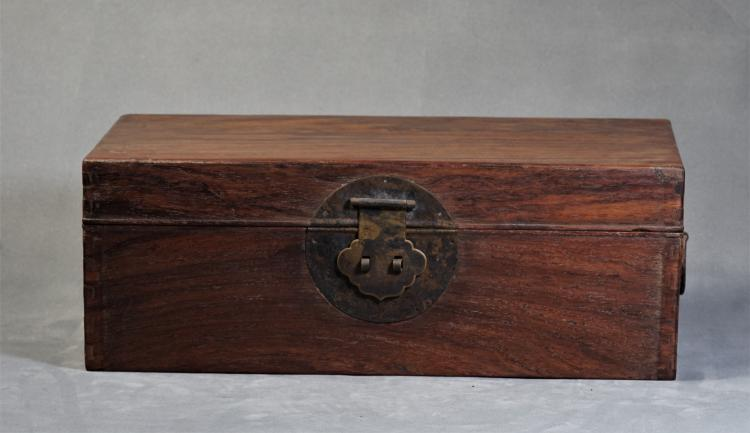A Yellow Rosewood of Box - Ming Dynasty
