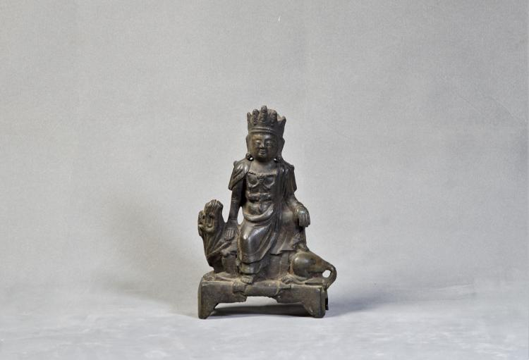 A Bronze Buddha Statue - Ming Dynasty