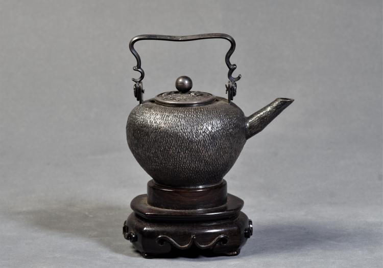 A Sliver Pot with Handle - Late Qing Dynasty