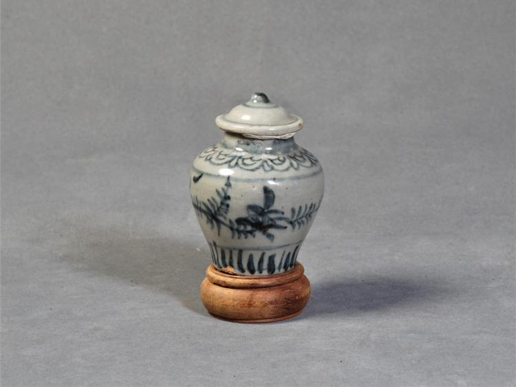 A Porcelain Bottle with Pattern - Ming Dynasty