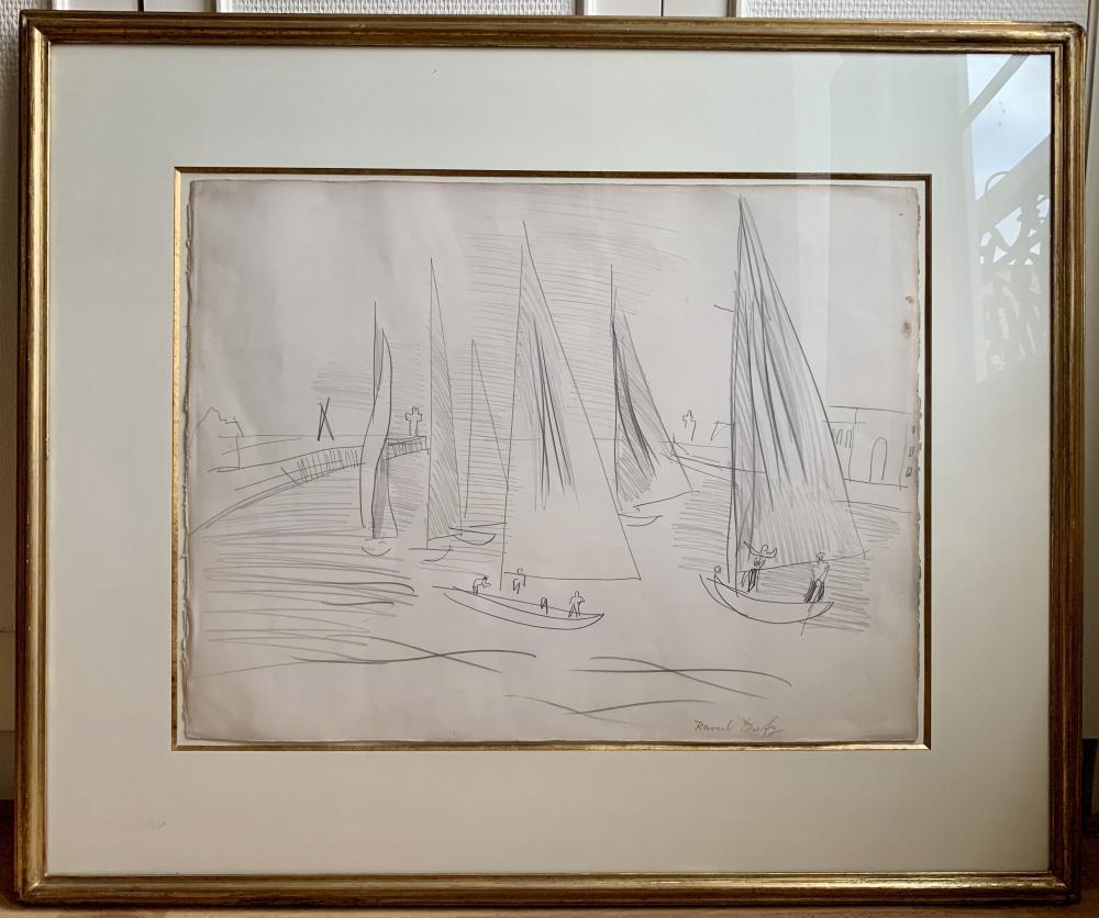 Raoul Dufy - Sortie des voiliers à Deauville, c. 1930