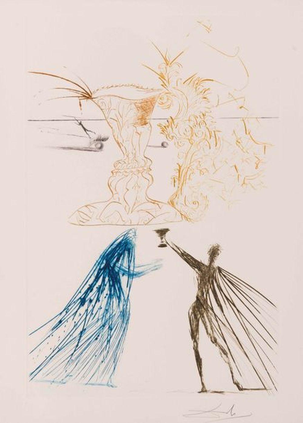Salvador Dali - Tristan et Iseult, 1970