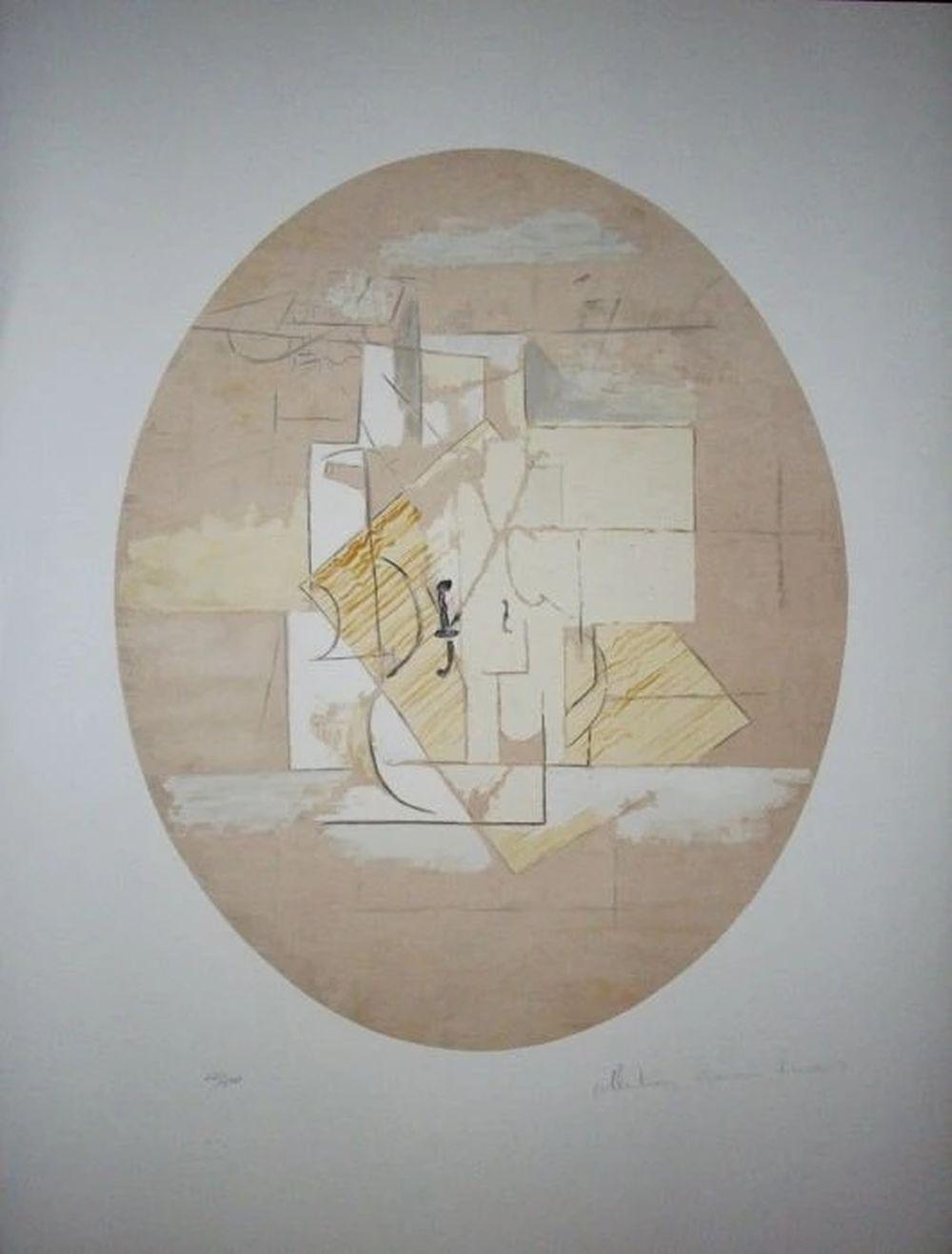 Pablo Picasso (d'après) - Nature morte à la guitare, 1979