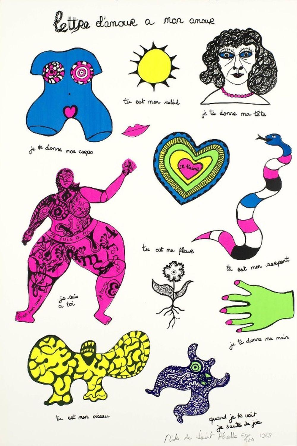 Niki de Saint Phalle - Lettre d'amour à mon amour, 1968