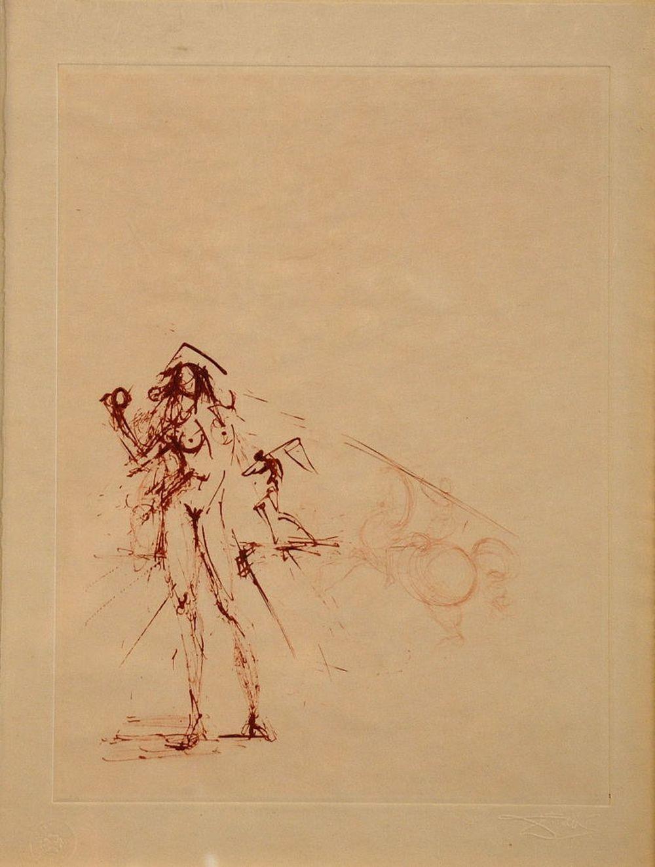 Salvador Dali - Les Amours de Cassandre Sépia, 1968