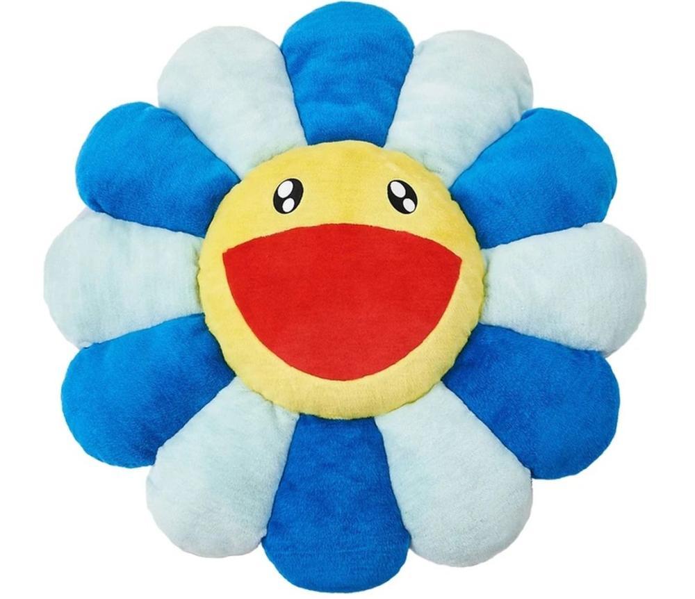 Takashi Murakami - Flower cushion blue and yellow