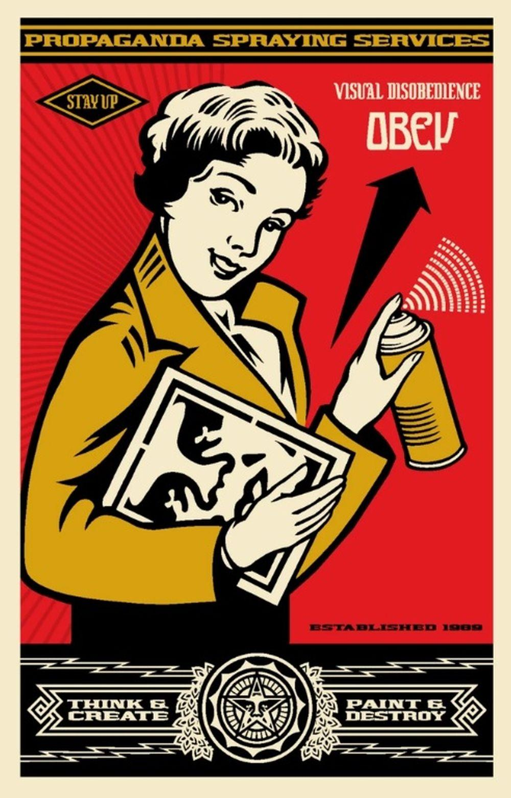 Shepard Fairey (OBEY) - Stay Up Girl