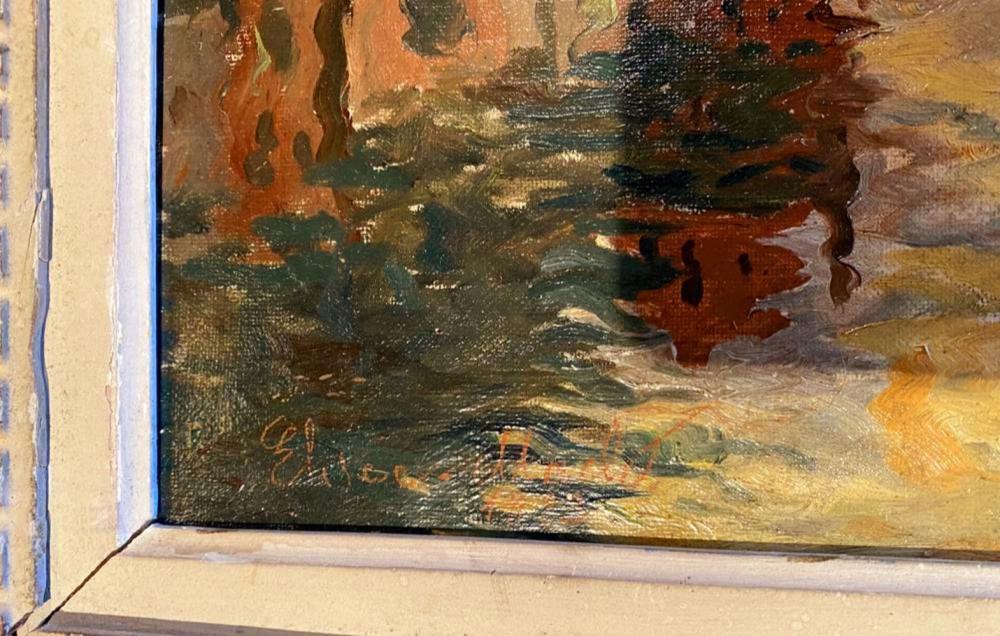 Elisee Maclet - Barques au quai