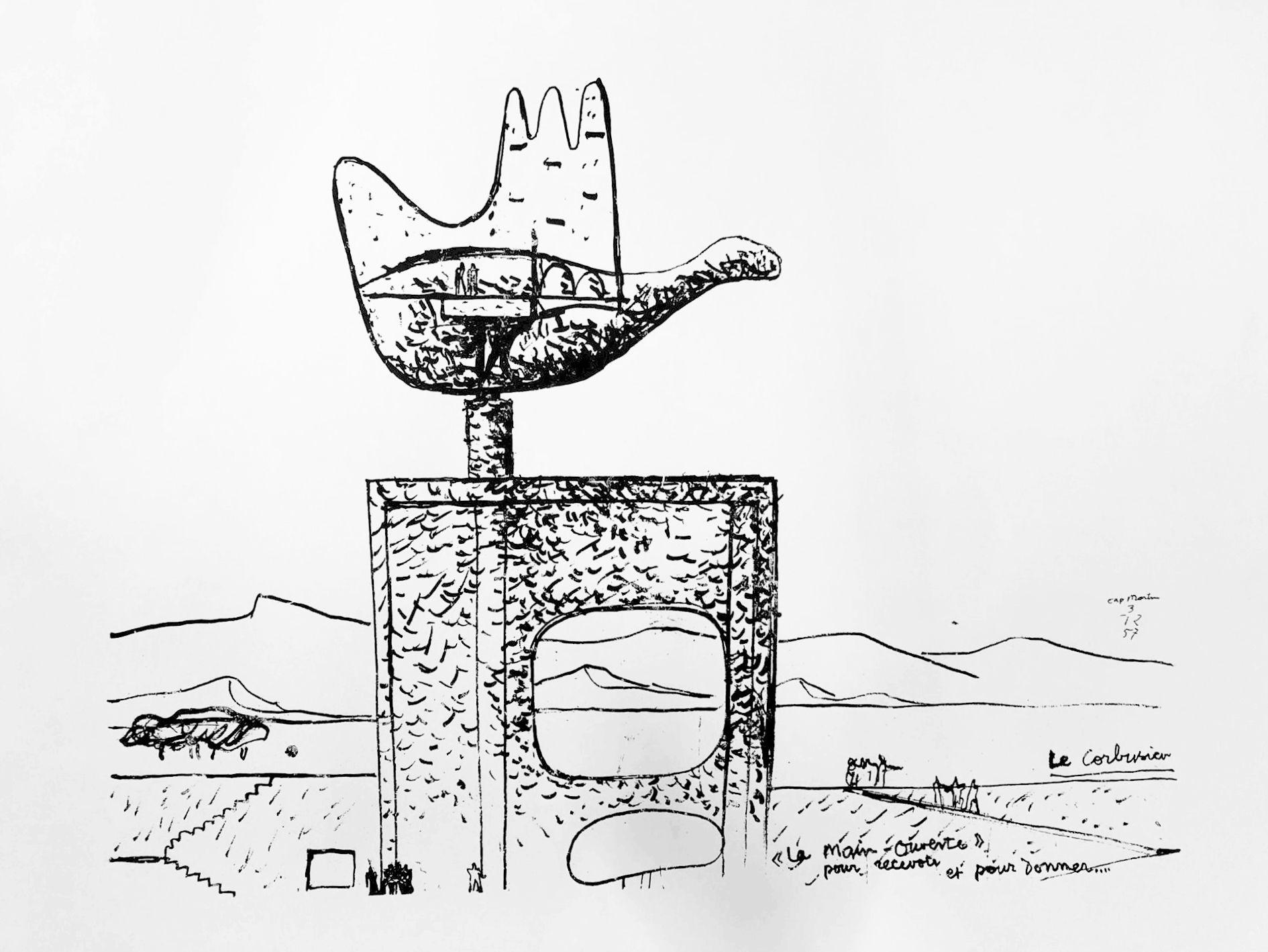Le Corbusier - La main ouverte, 1955
