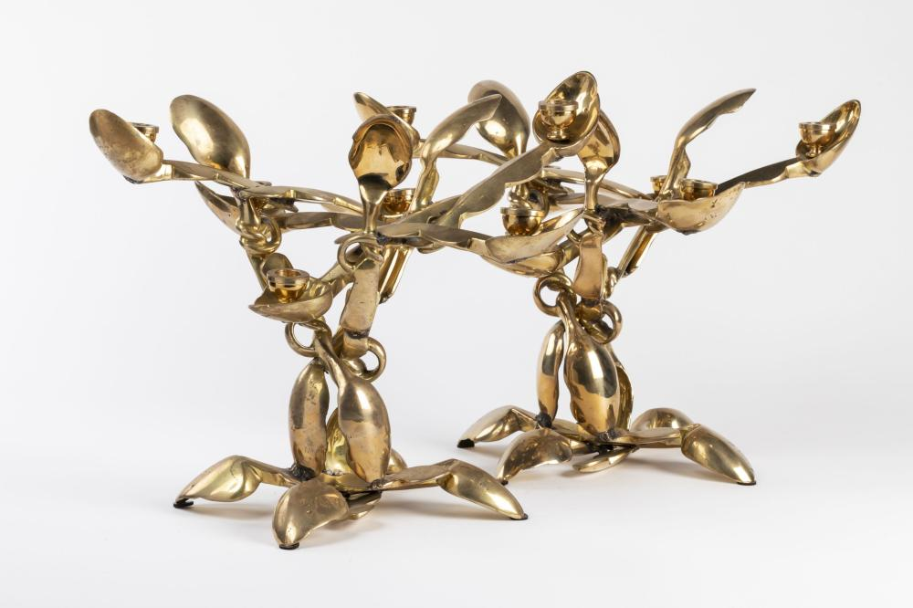 Arman - Bougeoirs aux cuillères (Spoon chandeliers), 2003