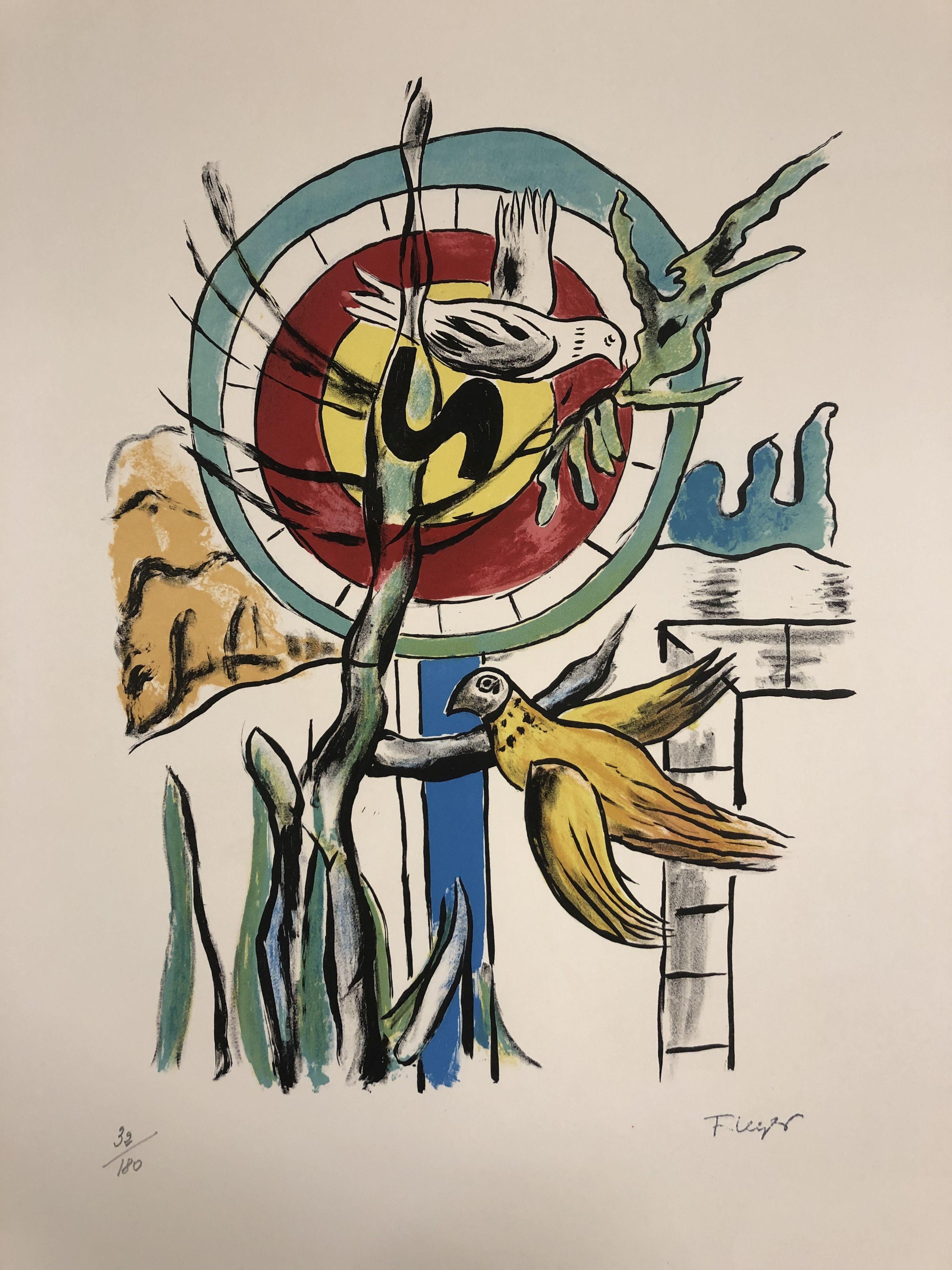 Fernand leger - Les deux Oiseaux, 1959