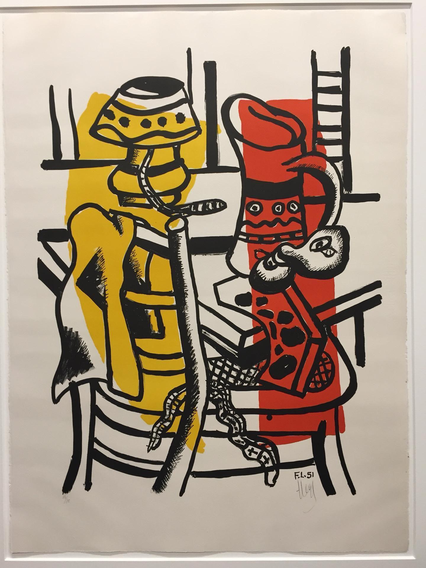 Fernand Leger - La chaise, 1955