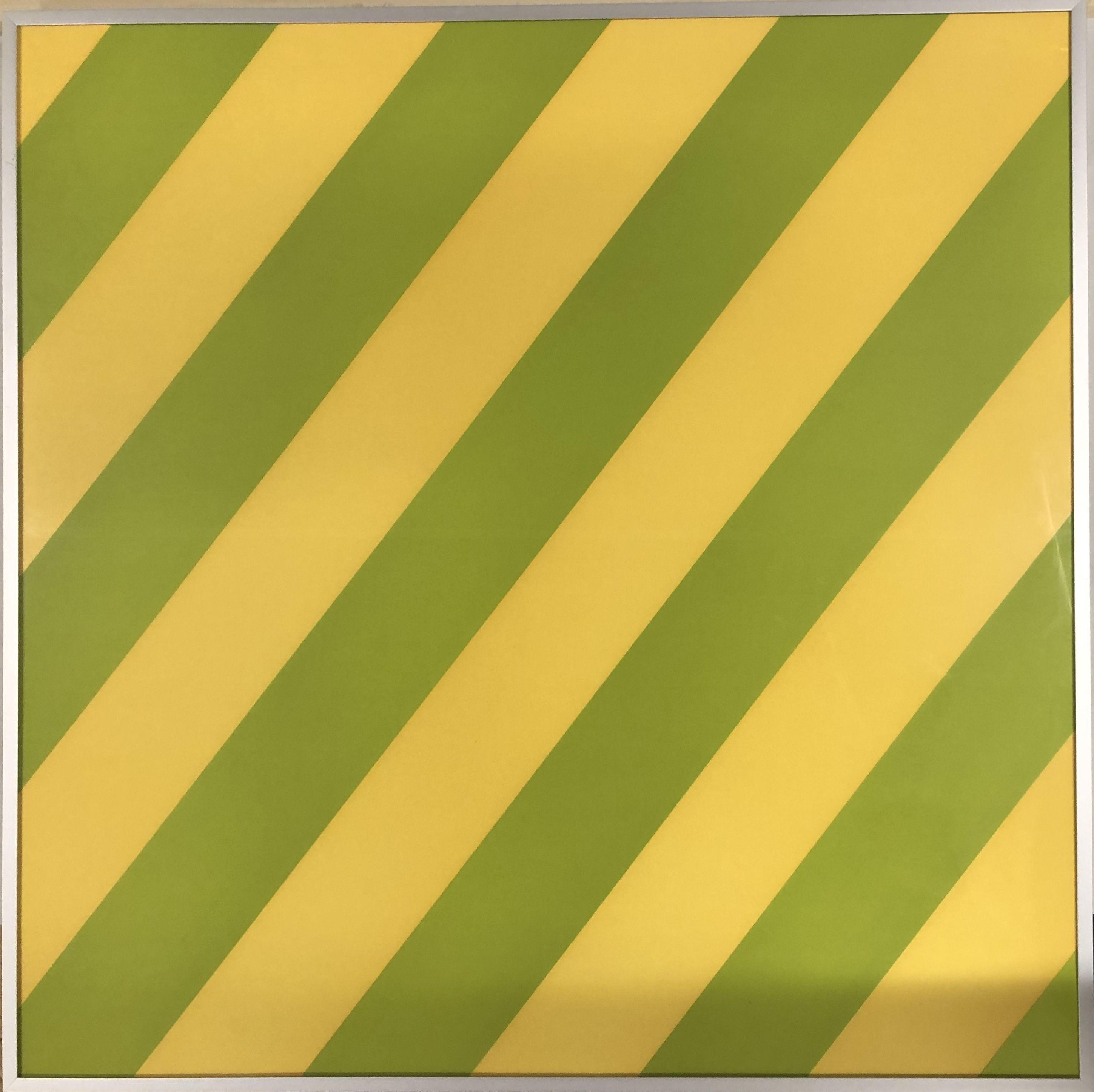 Olivier Mosset - Composition Yellow / Green, 2003