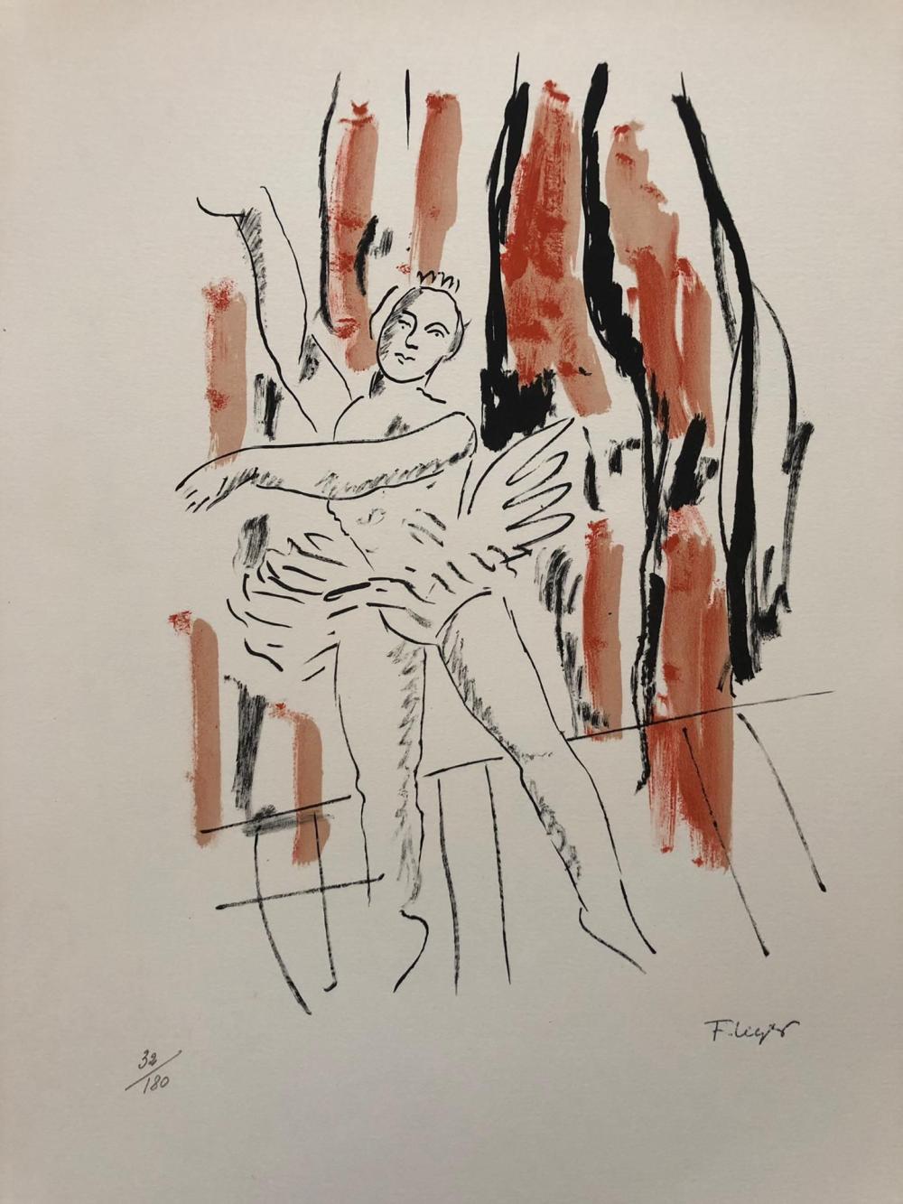 Fernand Léger - La danseuse, 1959