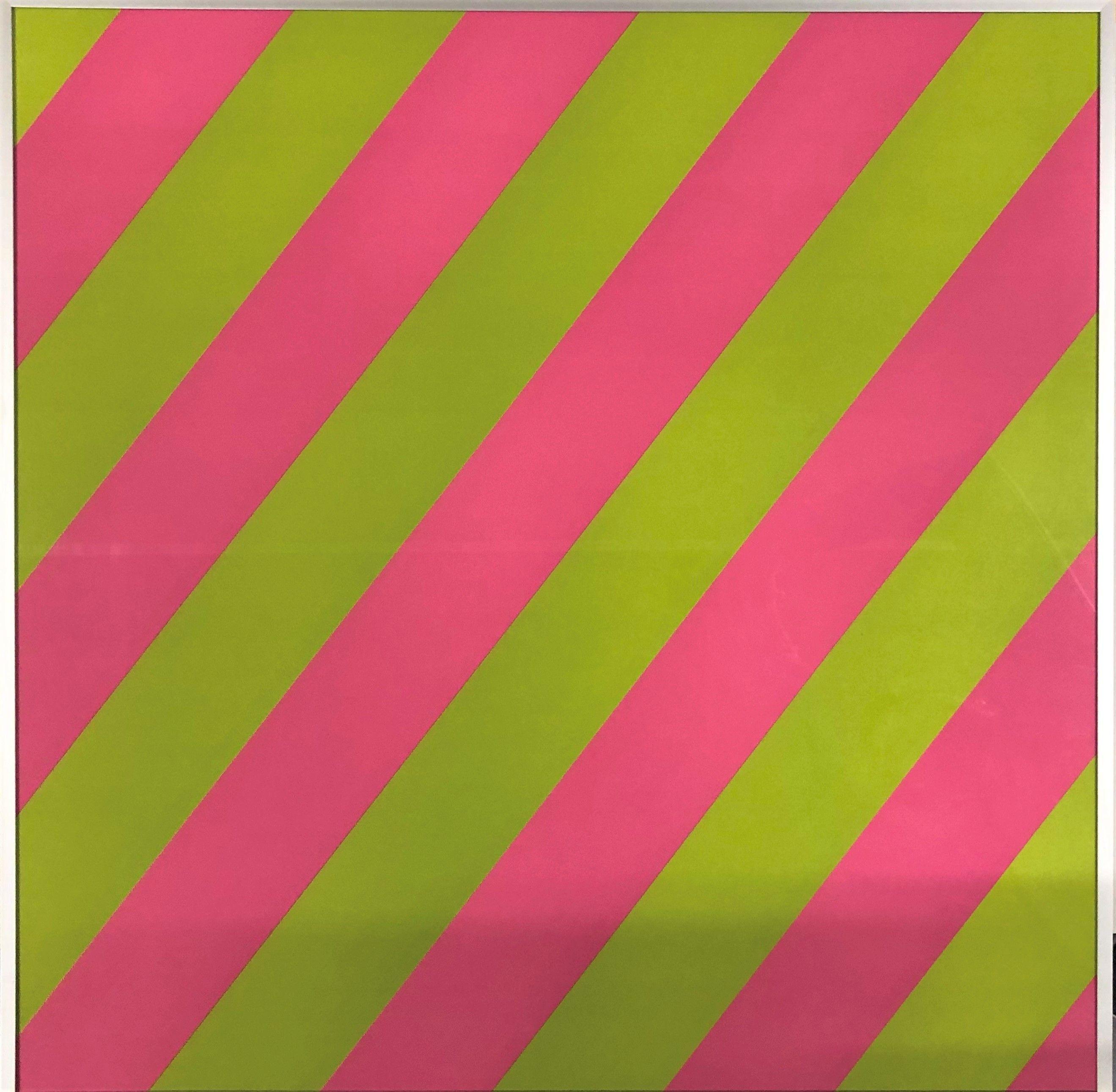 Olivier Mosset - Composition Pink / Green, 2003