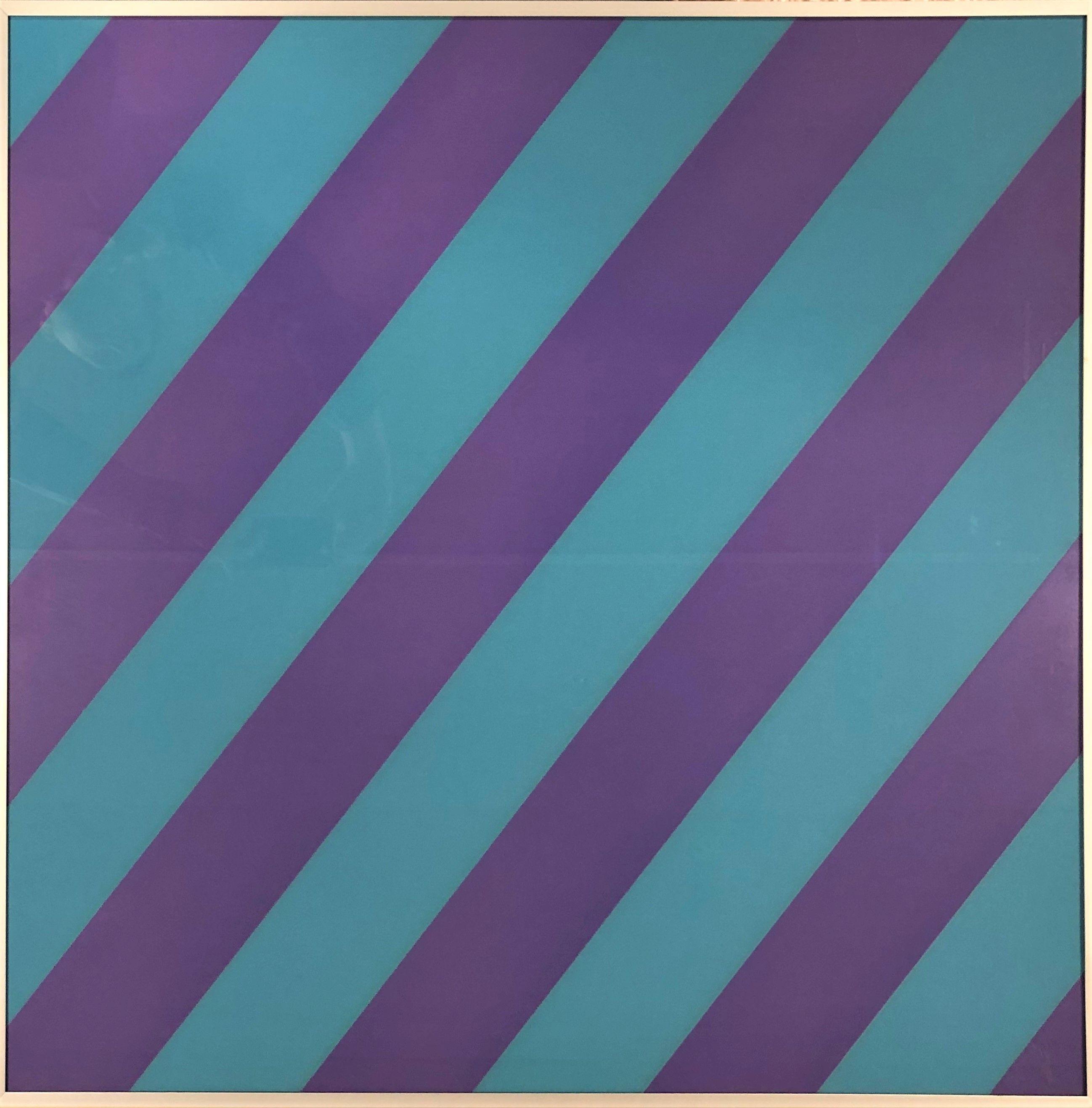 Olivier Mosset - Composition Violet / Blue, 2003