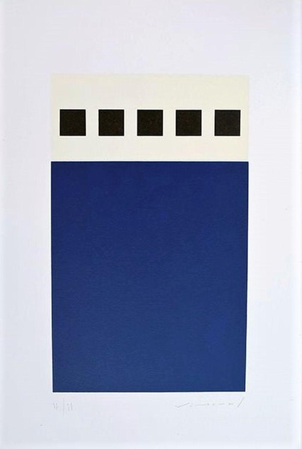 Aurélie Nemours - Point cinq, 1991