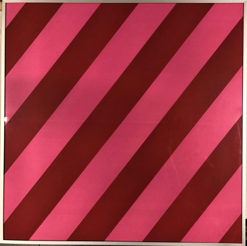 Olivier Mosset - Composition Red / Pink, 2003